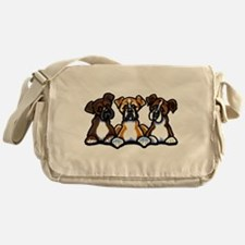 Three Boxer Lover Messenger Bag