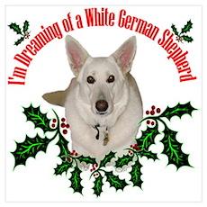 White German Shepherd Poster