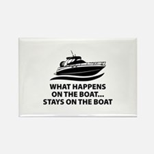 What Happens On The Boat Rectangle Magnet