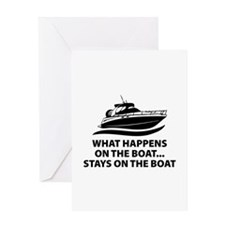 What Happens On The Boat Greeting Card