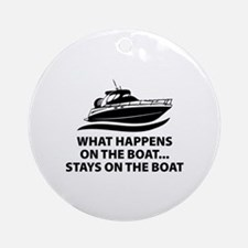 What Happens On The Boat Ornament (Round)