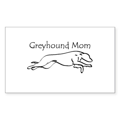 Greyhound Mom Sticker (Rectangle)