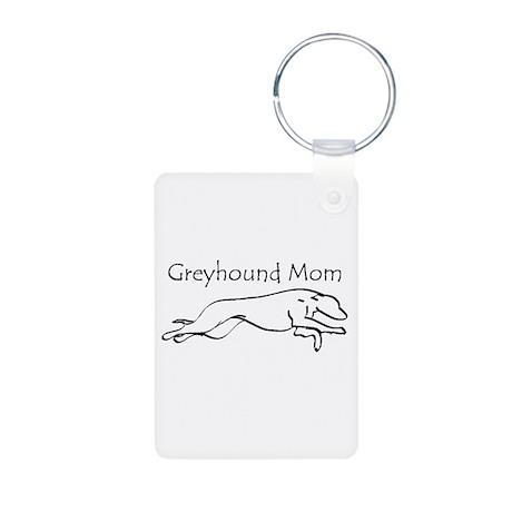 Greyhound Mom Aluminum Photo Keychain