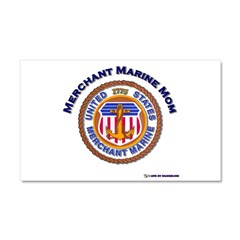 Merchant marine Mom Car Magnet 20 x 12