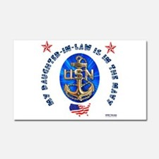 Navy Daughter-In-Law Car Magnet 20 x 12
