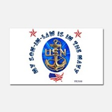 Navy Son-In-Law Car Magnet 20 x 12