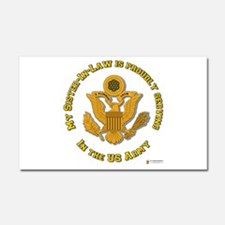 Army Sister-in-Law Gold Car Magnet 20 x 12