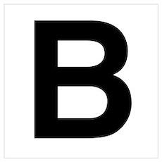 B Helvetica Alphabet Poster