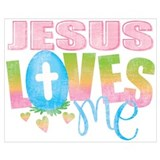 Jesus loves me Posters