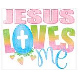Jesus loves me Posters