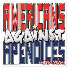Americans Against Apendices [ Framed Print