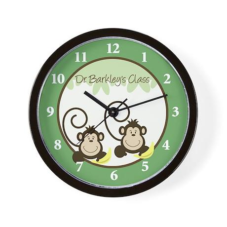Silly Monkeys Wall Clock - Dr. Barkley's Class