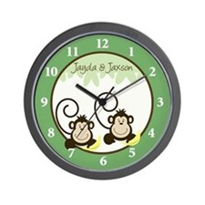 Silly Monkeys Wall Clock - Jayda & Jaxson