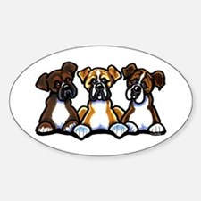 Three Boxer Lover Decal