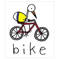Bike Bird Poster