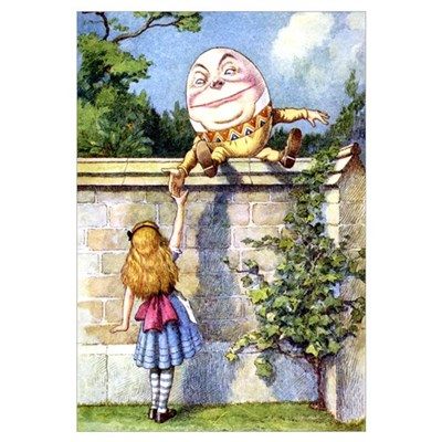 ALICE & HUMPTY DUMPTY Canvas Art