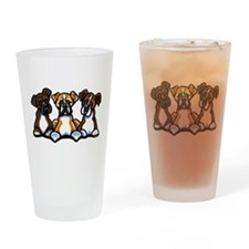 Three Boxer Lover Drinking Glass