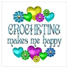 Crocheting Happiness Poster