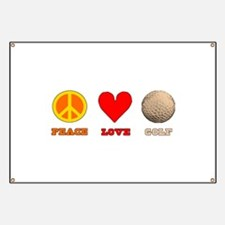 Peace Love Golf Banner