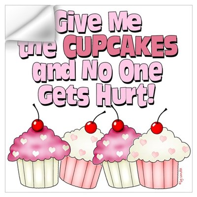 Give me the Cupcakes Wall Decal