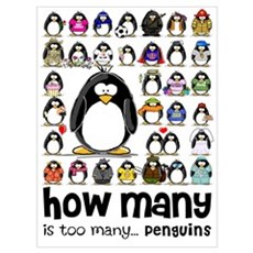 too many penguins Poster