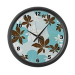 Floral Pattern Large Wall Clock