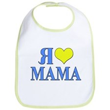 I Love Mom (Russian) Bib