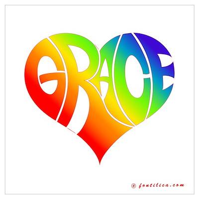 Grace (Rainbow Heart) Poster