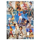 Pinup cowgirl Posters