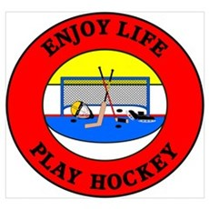 Enjoy Life Play Hockey Framed Print
