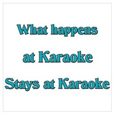 What happens at Karaoke Stays Poster