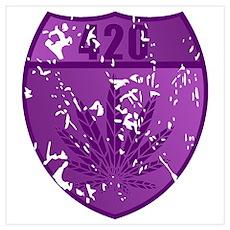 420 Purple Leaf Poster