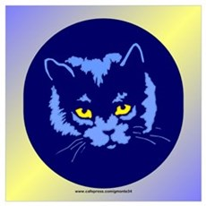 Blue Cat Canvas Art