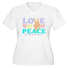 Love and peace 4 T-Shirt