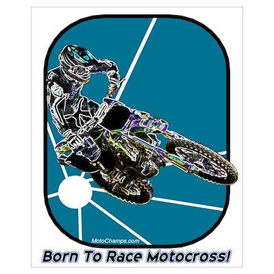 """Born To Race Motocross"" Pri Poster"