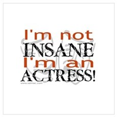 Insane actress Framed Print