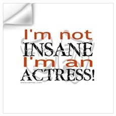 Insane actress Wall Decal