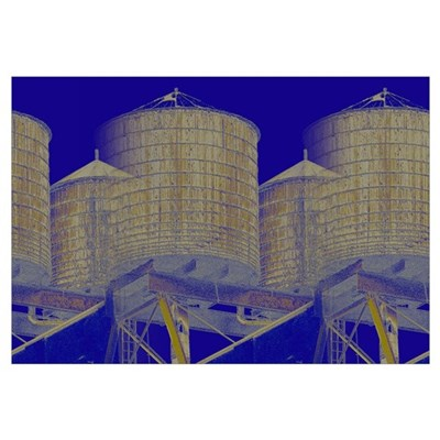 New York City Water Towers by Urban Gorilla Art Framed Print