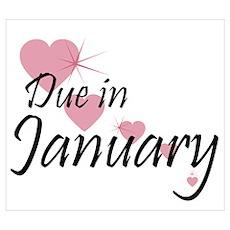 Due January Cascading Hearts Poster