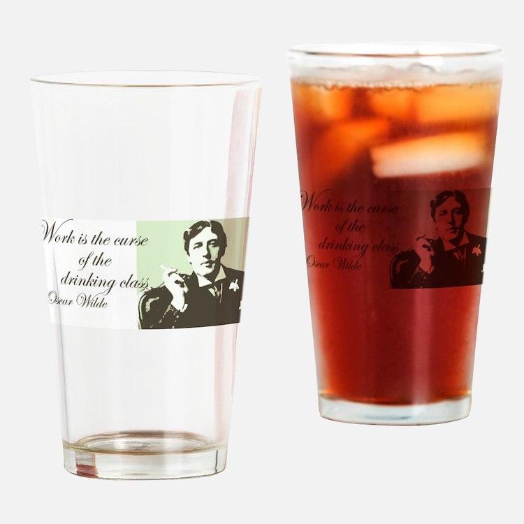 Oscar Wilde Drinking Glass