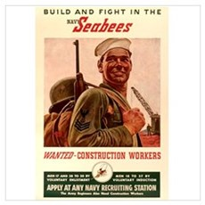 World War 2 Seabees Canvas Art