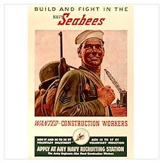 World War 2 Seabees Poster