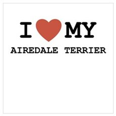 I Love My Airedale Terrier Poster