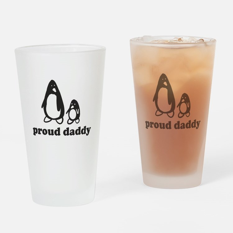 Proud Daddy Drinking Glass