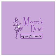 Purple Mom's Diner Canvas Art