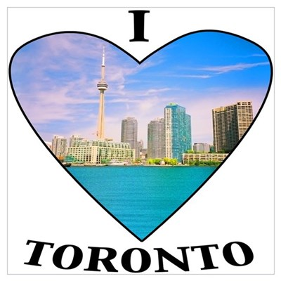 I heart Toronto Canvas Art