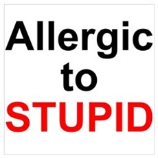 Allergic To Stupid Poster