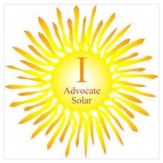 I Advocate Solar Poster