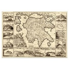 Ancient Greece Map Poster