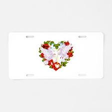 Rose heart Aluminum License Plate